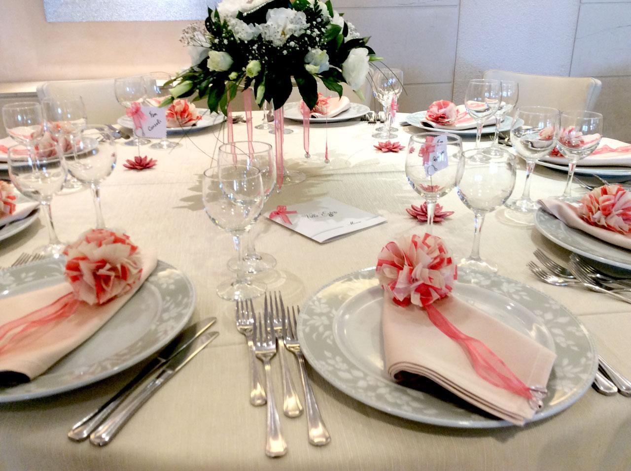 Disposizione dei tavoli per il ricevimento di nozze - Addobbo tavola prima comunione ...